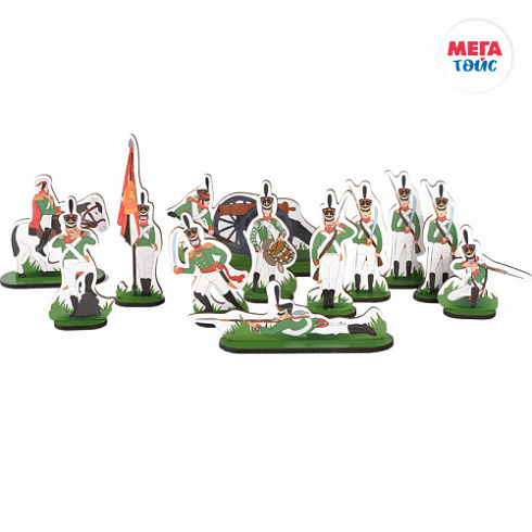 "A set of soldiers - 12 heroes, for the game and collectibles (24 items) ""Kutuzov"" (60pcs)"
