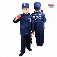 Set of traffic police (jacket, pants, cap, wand, certificate, cover, coat hanger) (12pcs)