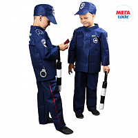 Set of traffic police 2 (pants, jacket, cap, wand, certificate, handcuffs) (12pcs)