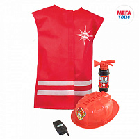 Set of the Ministry of Emergency Situations No. 2 in a cover vest, fire extinguisher, helmet, walkie-talkie (10 pieces)