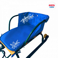 Seat for sledges WITH BUTTONS blue (20pcs)